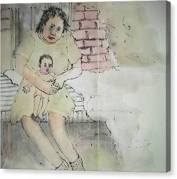 Inside Mental Illness Album Canvas Print by Debbi Saccomanno Chan