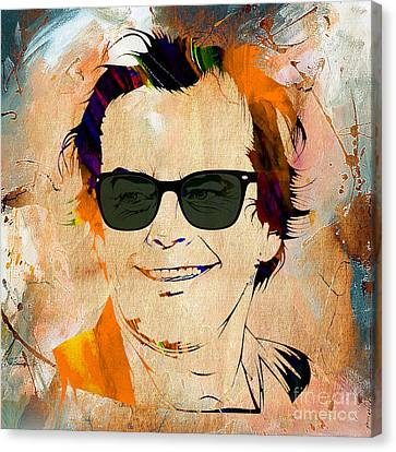 Jack Nicholson Canvas Print - Jack Nicholson Collection by Marvin Blaine