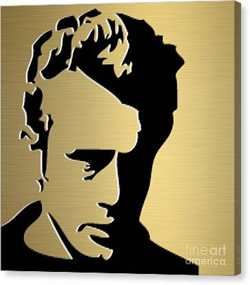 James Dean Gold Series Canvas Print by Marvin Blaine
