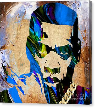 Jay Canvas Print - Jay Z Collection by Marvin Blaine