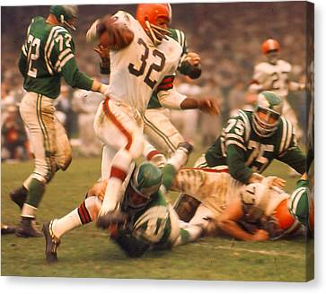 Jim Brown Canvas Print