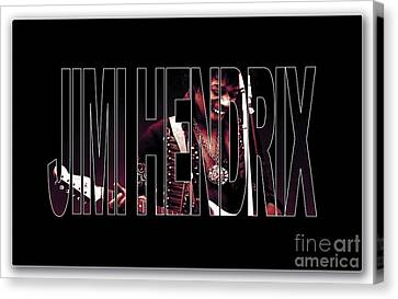 Jimi Hendrix Canvas Print by Marvin Blaine
