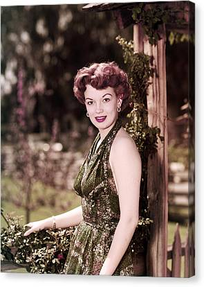 Joan Evans Canvas Print by Silver Screen
