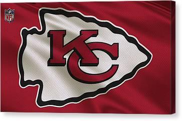 Team Canvas Print - Kansas City Chiefs Uniform by Joe Hamilton