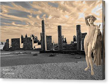 God Of Light Canvas Print - Kourion-temple Of Apollo by Augusta Stylianou