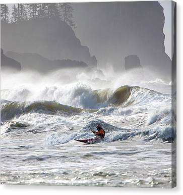 La Push Pummel And Sea Stacks Canvas Print by Gary Luhm