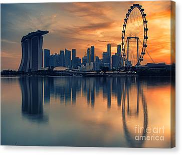 Landscape Of The Singapore Canvas Print