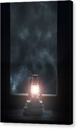Oil Lamp Canvas Print - Lantern by Joana Kruse