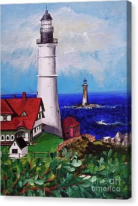 Lighthouse Hill Canvas Print