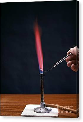 Lithium Flame Test Canvas Print by Andrew Lambert Photography