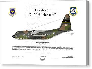 Lockheed C-130h Hercules Canvas Print by Arthur Eggers