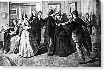 Louisa May Alcott (1832-1888) Canvas Print by Granger