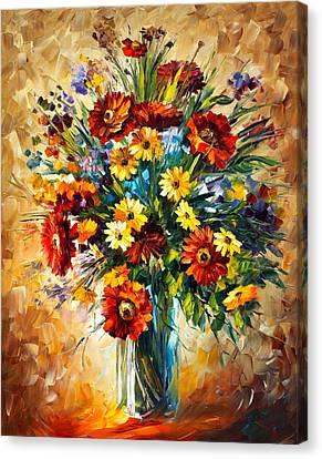 Magic Flowers Canvas Print by Leonid Afremov