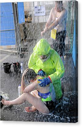 Major Emergency Decontamination Training Canvas Print