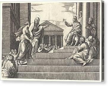 251 Canvas Print - Marcantonio Raimondi Italian, Ca. 14701482 - 15271534 by Litz Collection