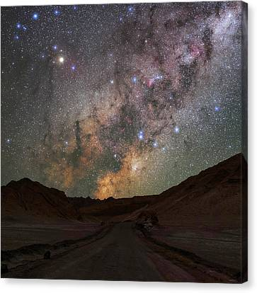 Milky Way Over The Atacama Desert Canvas Print by Babak Tafreshi