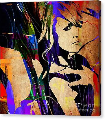Miranda Lambert Collection Canvas Print by Marvin Blaine
