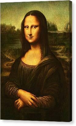 Canvas Print featuring the painting Mona Lisa  by Leonardo Da Vinci