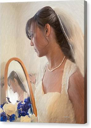 5 More Minutes And Married Canvas Print by Angela A Stanton