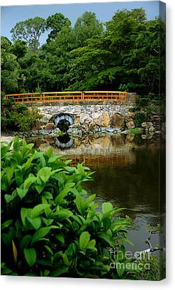 Morikami Japanese Garden And Museum Canvas Print by Amy Cicconi