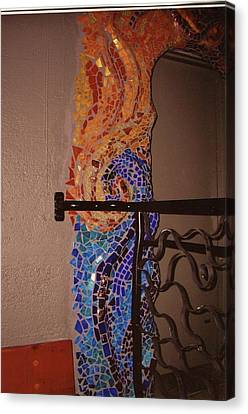 Mosaic Doorway Canvas Print by Charles Lucas