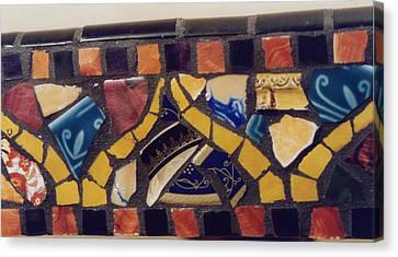 Mosaic Table Top Canvas Print by Charles Lucas