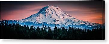 Canvas Print featuring the photograph Mt. Rainier by Chris McKenna
