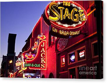 Music City Usa Canvas Print by Brian Jannsen