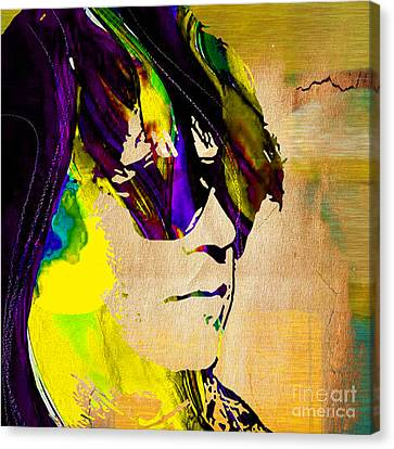 Neil Young Canvas Print - Neil Young Collection by Marvin Blaine