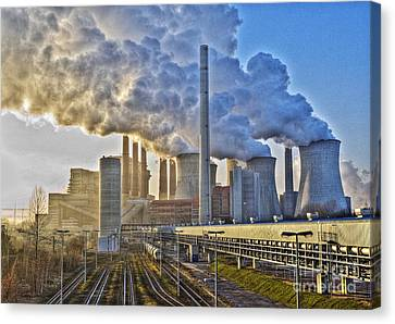 Neurath Power Station Germany Canvas Print by David Davies