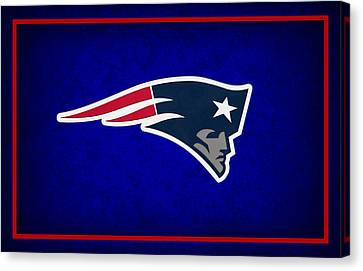 Football Canvas Print - New England Patriots by Joe Hamilton