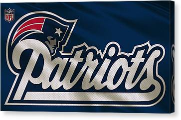 New England Patriots Uniform Canvas Print by Joe Hamilton