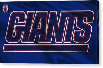 New York Giants Uniform Canvas Print by Joe Hamilton