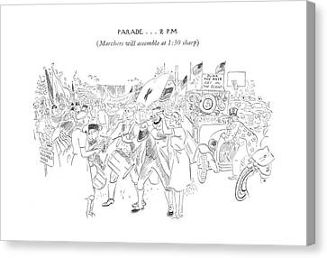 New Yorker July 4th, 1942 Canvas Print