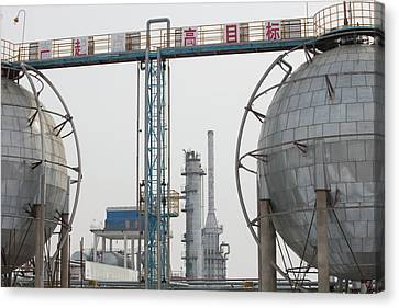 Oil Field In Daqing Canvas Print by Ashley Cooper