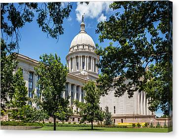 Oklahoma State Capital Canvas Print by Doug Long