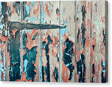 Industrial Background Canvas Print - Old Door by Tom Gowanlock