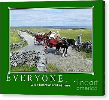 Old Irish Saying's Canvas Print by Joe Cashin