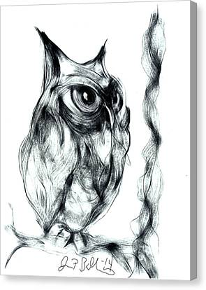 Owl  Canvas Print by Jon Baldwin  Art