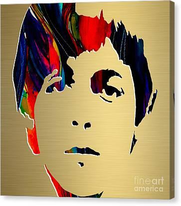 Paul Mccartney Gold Series Canvas Print by Marvin Blaine