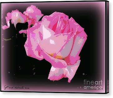 Canvas Print featuring the photograph Pink Rose by Leanne Seymour