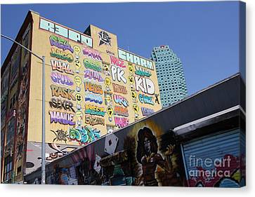 5 Pointz Graffiti Art 2 Canvas Print by Allen Beatty