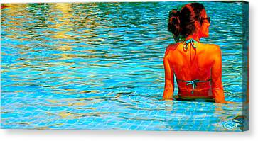 Canvas Print featuring the photograph Pool by J Anthony