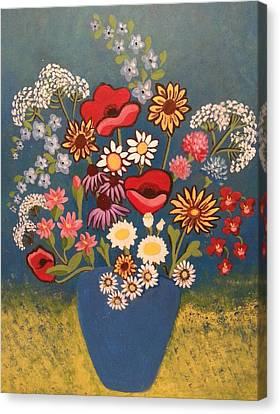 Poppies And Daisies Canvas Print by Nikki Dalton