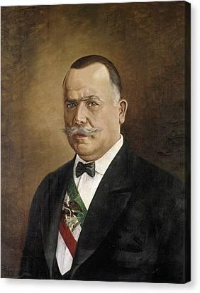 Porfirio Diaz (1830-1915) Canvas Print by Granger