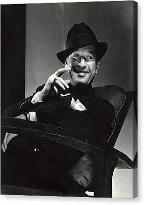 Portrait Of Maurice Chevalier Canvas Print