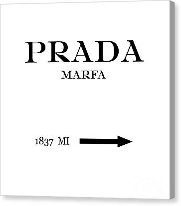 Prada Marfa Mileage Distance Canvas Print by Edit Voros