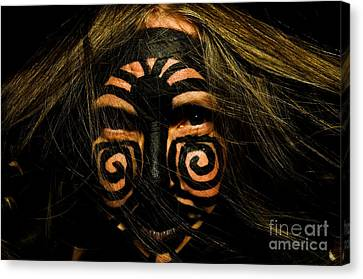 Canvas Print featuring the photograph Primal Women by Kristen R Kennedy