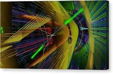 Proton Collision Canvas Print by Science Photo Library