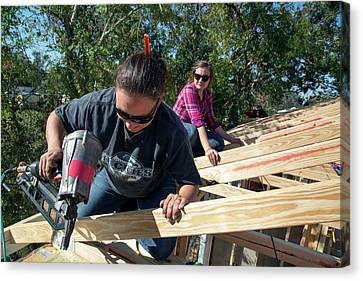 Re-building After Hurricane Katrina Canvas Print